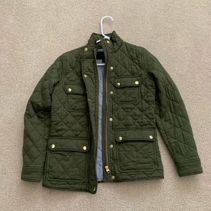 Quilted Green Military Style Jacket